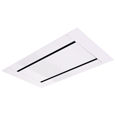 <span>CHR1000 - White Glass & Stainless Steel</span>100CM CEILING MOUNT RANGE HOOD