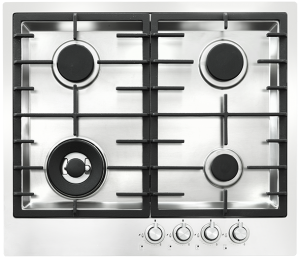 <span>60CM GAS COOKTOP</span>STAINLESS STEEL 4 burner