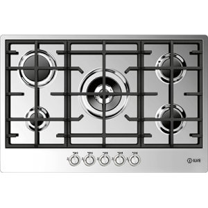 <span>77CM WIDE 5 BURNER</span>STAINLESS STEEL GAS COOKTOP