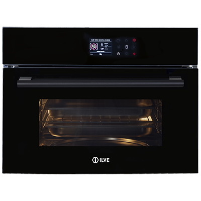<span>ILCS45BV - Black Glass</span>60cm Combination Steam Oven