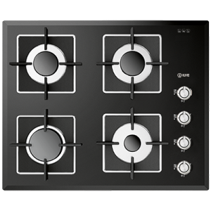 <span>ILBV604 - Black Glass</span>60cm wide Gas Cooktop