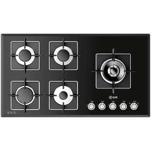 <span>ILBV905 - Black Glass</span>90cm wide Gas Cooktop