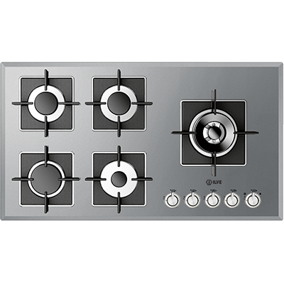 <span>ILSS905 - Super Inox Series</span>90cm wide Gas Cooktop