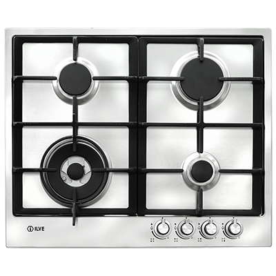 <span>60cm gas cooktop</span>4 burner stainless steel