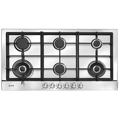 <span>90cm Gas cooktop</span>with twin woks