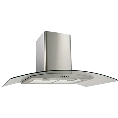 <span>Canopy Rangehood</span>AS430 stainless steel with curved glass canopy