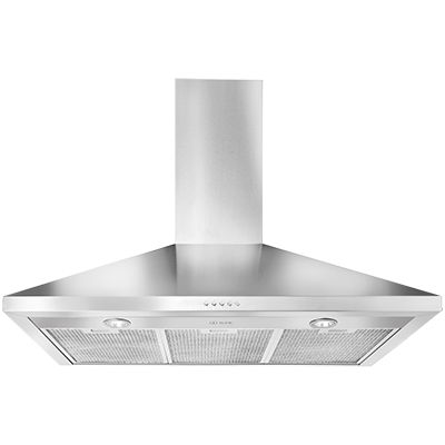 <span>canopy rangehood</span>button control with blue indicator light