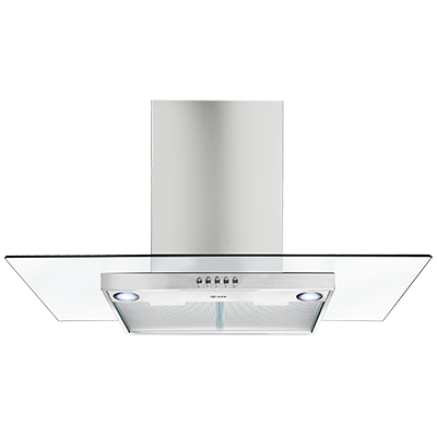 <span>canopy wallmount rangehood</span>stainless steel with straight glass canopy