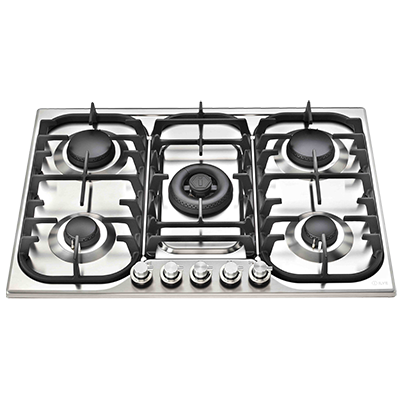 <span>HCB70C/SS - STAINLESS STEEL</span>70CM FIVE BURNER GAS COOKTOP