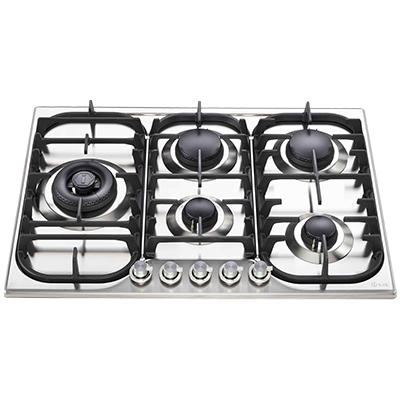 <span>HCB70SD/SS - STAINLESS STEEL</span>70CM FIVE BURNER GAS COOKTOP