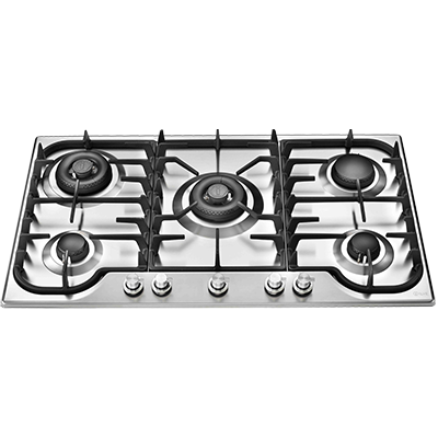 <span>HCB90CC/SS - STAINLESS STEEL</span>90CM FIVE BURNER GAS COOKTOP