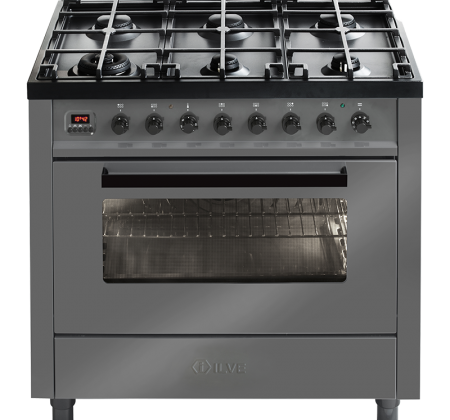 <span>L096WMP - GRIGIO LUSSO</span>90CM FREESTANDING COOKER