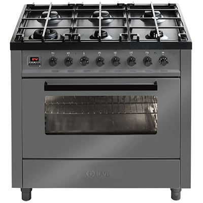 <span>GRIGIO LUSSO - L096WMP/GRD</span>90CM FREESTANDING COOKER