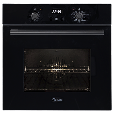 <span>60cm multifunction electric oven</span>built-in black glass