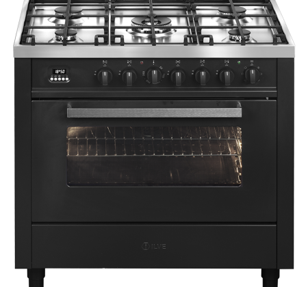 <span>90cm freestanding cooker</span>Electric Oven with 5 Gas burners
